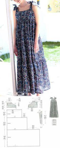 Ideas For Sewing Patterns Free Kids Dress Tutorials Trendy Dresses, Simple Dresses, Nice Dresses, Casual Dresses, Fall Dresses, Easy Sewing Patterns, Clothing Patterns, Dress Patterns, Costura Fashion
