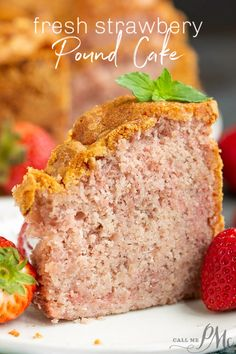 Real Fruit Strawberry Buttermilk Pound Cake (No Jello or Kool-Aid) recipe is a delightful strawberry pound cake made with condensed fresh strawberries. It's luscious and soft, yet not too sweet, and bursting with fresh strawberry flavor. Fresh Fruit Desserts, Fresh Strawberry Recipes, Strawberry Cakes, Easy Desserts, Delicious Desserts, Strawberry Puree, Recipes With Fresh Strawberries, Strawberry Muffins, Recipes
