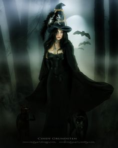Beautiful Witch by Dezzan.deviantart.com ~ Being a witch must be wonderful. It's the joy of being a crazy cat lady. You separate yourself from the misogyny of the rest of the world. You grow your own garden, read a lot of books, and enjoy nature in solitude. ~