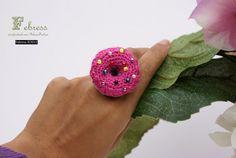 Crochet Donut Ring amigurumi Donut ring sweet by febressfashion,