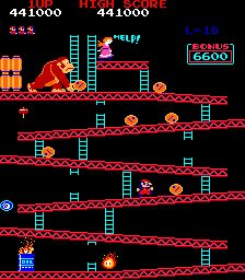 Donkey Kong - almost got thrown out of a pizza place while playing this with friends!