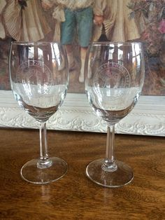 West Point U.S. Military Academy Crystal Wine Stems Glasses Goblets