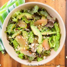Grapefruit Avocado Salad With Grapefruit Vinaigrette by serenabakes #Salad #Grapefruit #Avocado