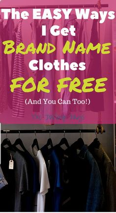 Do you love clothes from places like Express but hate the high prices Read this to see how you can get free clothes from name brands Its so easy Click through to see how. Ways To Save Money, How To Get Money, Money Saving Tips, Managing Money, Money Savers, Free Stuff By Mail, Get Free Stuff, Free Clothes Online, Freebies By Mail