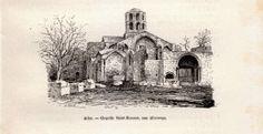 1892 - Gravure sur bois - Arles (Bouches-du-Rhône) - La chapelle Saint-Honorat…