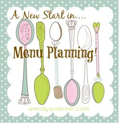 Menu planning organized. Yes, I need this. Don't you?