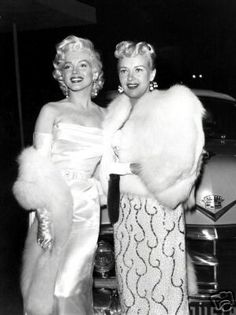 Marilyn Monroe & Betty Grable at Ciro's Restaurant. 1953.