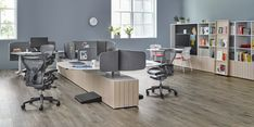 Aeron Chairs with Locale, Clubhouse Setting