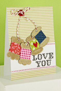 Love You Card by Erin Lincoln for Papertrey Ink (November 2012)