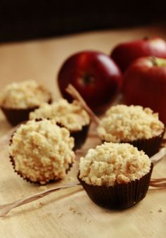 apple muffins with crumble