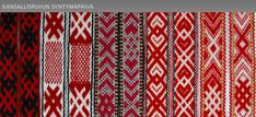 Suomen käsityön museo - The Craft Museum of Finland. Patterns very alike for example the patterns of Nenets, Komi and Estonian people.