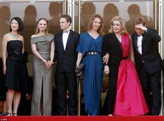 Their big moment: (L-R)French Minister of Culture and Communication Fleur Pellerin joined Sara Forestier,  Rod Paradot,  Emmanuelle Bercot, Catherine Deneuve and  Benoit Magimel at the screening of La Tete Haute (Standing Tall) and the Opening Ceremony on Wednesday