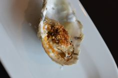 Power Lunch: Jardenea at the Melrose Hotel, Washington, DC. Grilled Barren Island Oysters with Chipotle Tarragon Butter, Lemon Gremolata.
