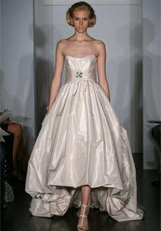 Mermaid Strapless Satin Faced Organza Chapel Wedding Dress