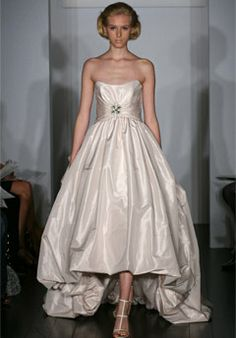 Amsale wedding gown - high/low bubble hem. For me, whenever :-)