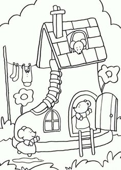 House Colouring Pages, Cute Coloring Pages, Free Printable Coloring Pages, Adult Coloring Pages, Coloring Books, Art Drawings For Kids, Doodle Drawings, Drawing For Kids, Line Art Vector