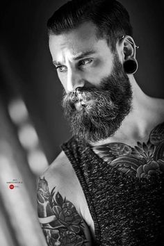 beard and tattoos please