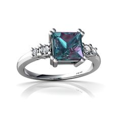 Alexandrite Ring - love princess cuts! Lil' expensive though! :)