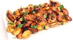 One Pan Roasted Chicken and Potatoes Recipe - Laura in the Kitchen - Internet Cooking Show Starring Laura Vitale
