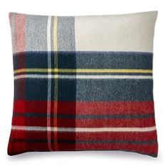 Plaid Lambswool Pillow Cover, Stewart | Williams Sonoma