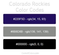colorado rockies team color codes