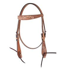 Oxbow Hand-Painted Feathers Browband Headstall