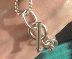 Sterling Silver Bracelet Handmade heavy by CopperfoxGemsJewelry