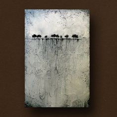 Abstract Painting of Trees on the Horizon Heavily por BrittsFineArt