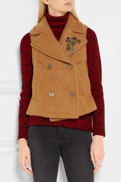 Golden Goose Deluxe Brand   Embellished felt vest   NET-A-PORTER.COM
