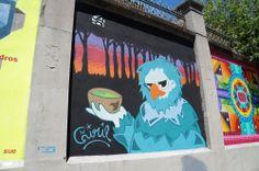"""Ciril23 Proyecto """"Muros"""".#ArteTabacalera Promoción del Arte #ArteUrbano #StreetArt Madrid Día de la Inauguración. #Arterecord 2014"""