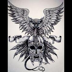 Arte final - Queen of the night  #noite #coruja #ink #ilustra #ideia #tattoo #tattooidea #owl #skull #monster #artwork #followme #art #artist #flying #dark #coruja #caveira #desenho #umbanda #exu #guardiao #drawing #illustration #sketchbook #queen #queenofthenight
