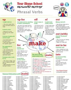phrasal verb MAKE and its collocations - #yourskypeschool #material