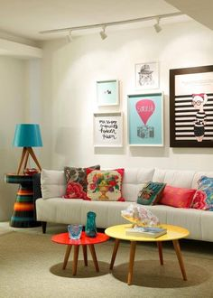 Love this living space! #HangYourArt