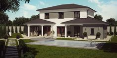 Barbade moderne, maison à étage