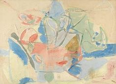 Helen Frankenthaler - Mountains and Sea, 1952, 86 5/8 x 117 1/4 inches, (220 x 297.8 cm., oil and charcoal on canvas