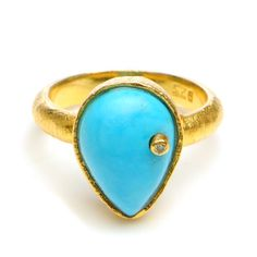 Wendy Mink Jewelry Turquoise/Diamond Ring