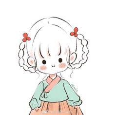 Cute Easy Drawings, Cute Little Drawings, Cute Cartoon Drawings, Anime Girl Drawings, Kawaii Drawings, Doodle Drawings, Doodle Images, Simple Anime, Easy Doodle Art