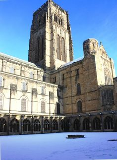 Durham Cathedral in the snow - Durham, UK