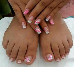 Belleza Toe Nail Art, Toe Nails, Acrylic Nails, Pedicures, Manicure And Pedicure, French Pedicure, French Nail Art, Beautiful Nail Designs, Ely