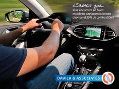 ¿Lo sabías? #coche #aireacondicionado #combustible #ahorro #segurosdavila #contigo #asesoresdeseguros #mexico