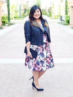 Curvy Girl Chic Plus Size Fashion Blog Fall Florals Eloquii Dress  Inverno 2015 #kauê Plus size