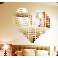 NEED  at least to buy 3 pack because i counted total of mirror on this pic wich is exactly (270 pieces )Ardisle 100 piece Mirror Tile Wall Sticker 3D Decal Mosaic Room Decor Stick On Modern: Amazon.co.uk: Beauty each Price:£3.49 + £0.99 delivery