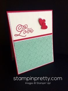 ORDER STAMPIN' UP! ON-LINE! DIY Valentine's Day card using Sealed with Love & Love Notes Framelits. 1000+ card ideas & daily tips!