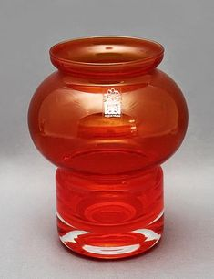 Riihimaki Välkky red glass lantern by Tamara Aladin, design number Produced