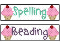 Just a bit of cuteness for every classroom! Eight pages of Cupcake Themed Classroom Schedule Signs/Posters. Included: Reading, Spelling, Writing, M...