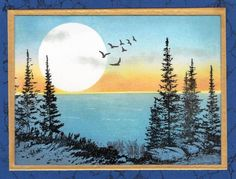 Moonlight on the Lake by Janelli - Cards and Paper Crafts at Splitcoaststampers