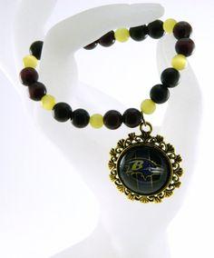Baltimore Ravens  Beaded Stretch Bracelet 16 by TheCraftyPandaGirl, $22.53