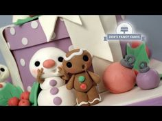 How to make a quick and easy Christmas present cake with simple gingerbread men & snowmen cake toppers! Check out my other Christmas cakes, cupcakes and topp. Christmas Present Cake, Easy Christmas Presents, Christmas Baking Gifts, Why Christmas, Christmas Cakes, Xmas, Snowman Cake, Snowmen, Fondant