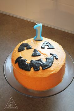 Birthday Cake pumpkin vines orange Cinderella Fall fondant 3