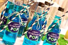 Getting ready to pop drink idea at a baby shower via Kara's Party Ideas Baby Shower Planner Baby Shower Planner Pop Baby Showers, Boy Baby Shower Themes, Baby Shower Gender Reveal, Baby Boy Shower, Baby Shower Gifts, Shower Party, Baby Shower Parties, Bridal Shower, Baby Shower Planner